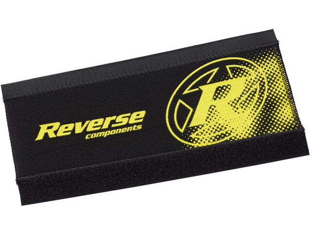Reverse Neoprene Chainstay Guard, black/yellow